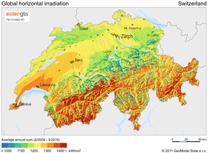 Solar power in Switzerland - Swiss solar potential