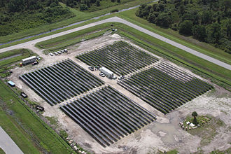 Solar power in Florida - Solar farm at Kennedy Space Center