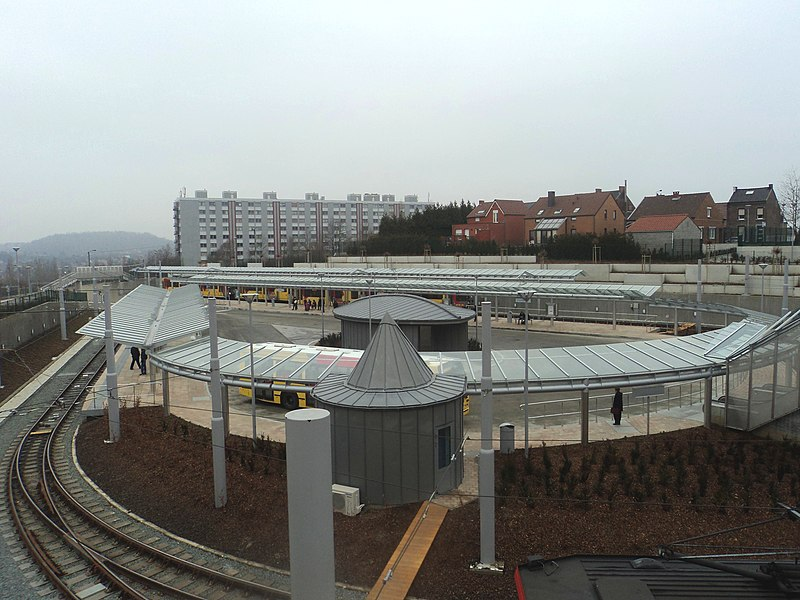 Soleilmont Station of the Charleroi Metro