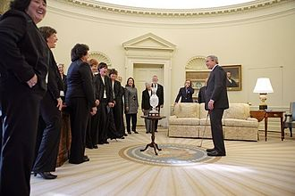 2005 Solheim Cup - The U.S. team visiting the White House in January 2006