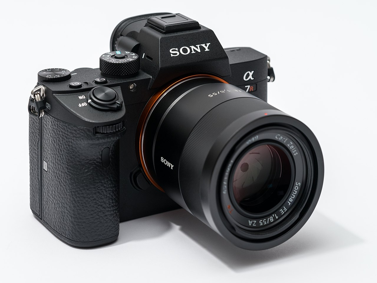 Datei:Sony Alpha ILCE-7RM3 full frame camera with lens.jpeg – Wikipedia