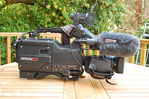 Betacam - Sony Betacam SP BVW-D600P Camcorder with C6 Paglight and Rycote Softie