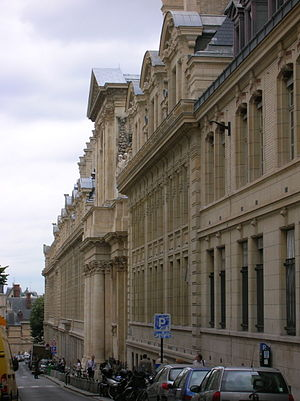 Bibliothèque de la Sorbonne - View of the Sorbonne, rue Victor-Cousin
