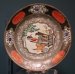Soup plate with Lady playing a Qi, Chinese porcelain, 1730s - Winterthur Museum - DSC01525.JPG