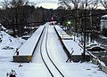 South Acton station construction from Route 27 bridge, November 2014.jpg
