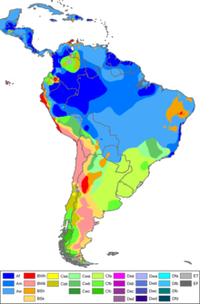 South america wikipedia map of south america according to kppen climate classification publicscrutiny Gallery