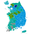 South Korean Legislative Election 2000 districts.png