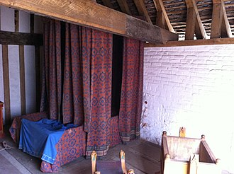 Bed - Southampton Medieval Merchant's House bedroom