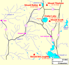Diamond Lake Oregon Wikipedia - Map of oregon lakes
