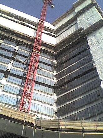 Southwark Towers - Under demolition