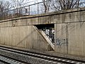 Southwest Corridor emergency exit at Forest Hills, March 2012.jpg