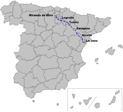 Spain A-68map.png