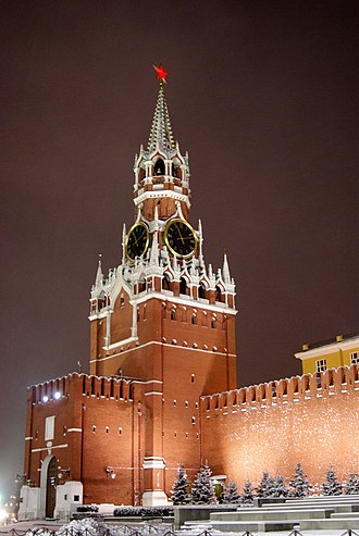 Lazar the Serb - The Spasskaya Tower, which was possibly built on or near the location of the clock tower.