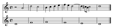 Un esempio di contrappunto florido (play MIDI[?·info])