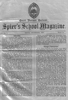 Spier's School Magazine No 1