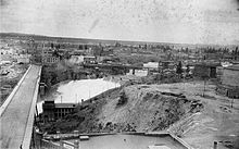 The city of Spokane Falls circa 1895