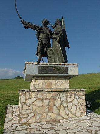 Takovo - Image: Spomenik Drugi Srpski Ustanak