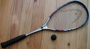 Racket (sports equipment) - Squash racket and ball