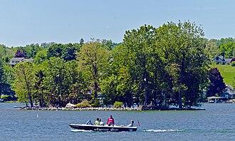 Squaw Island (Canandaigua Lake) - Squaw Island from Canandaigua City Pier