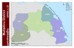 Mullaitivu District - DS Divisions of Mullaitivu District, 2006