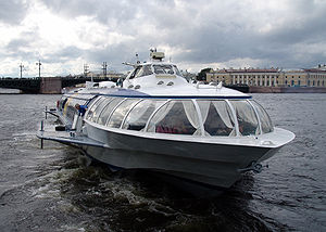 St. Petersburg Russia Hydrofoil boat