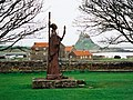 St Aidan statue, Lindisfarne Priory - geograph.org.uk - 1463961.jpg