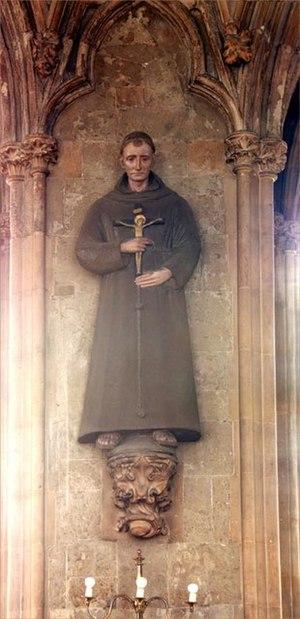 John Forest - Bl. John Forest, nave statue - St. Etheldreda, Ely Place, London