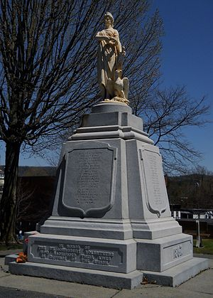 St. Johnsbury, Vermont - This monument, located in Courthouse Park, honors those volunteers who died in the Civil War.