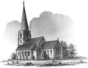 St Michael on Greenhill, Lichfield - The church in 1845, after restoration