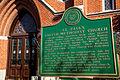 St Pauls United Methodist in Monroe MI historical marker.jpg