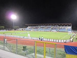 San Marino Stadium - Image: Stadio Olimpico Serravalle (settembre 2011)