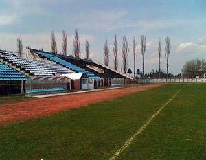 Stadionul CFR (Pașcani) - Image: Stadion CS Kosarom Pascani