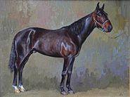 Standardbred,oil on canvas 30x40sm