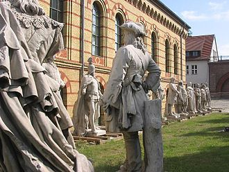 Siegesallee - Statues in the Spandau Citadel, August 2009