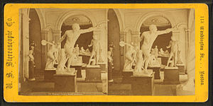 Boston Athenæum - Image: Statuary gallery, Boston Atheneum, by U.S. Stereoscopic Co