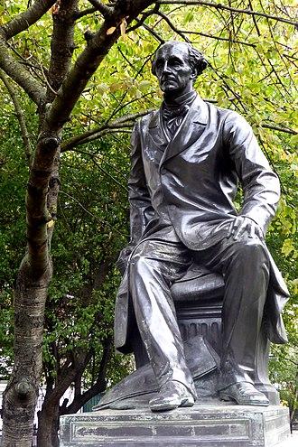 John Stuart Mill - Statue of Mill near Victoria Embankment in London