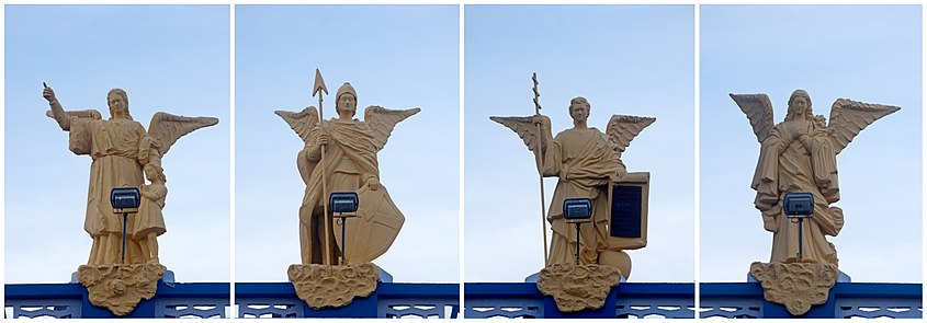Statues in Our Lady of Snows Shrine Basilica, Tuticorin