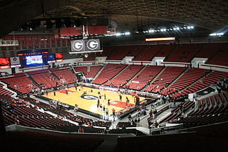 Georgia Bulldogs and Lady Bulldogs - Stegeman Coliseum in Athens, Georgia.