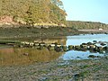 Stepping Stones and bridge at Sandy Haven - geograph.org.uk - 1025373.jpg