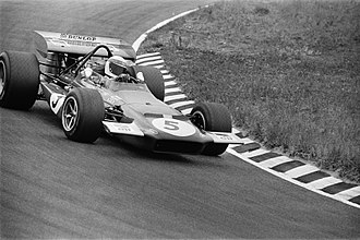 Jackie Stewart - Stewart in the Tyrrell entered March 701 at the 1970 Dutch Grand Prix.