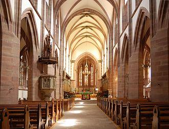 Niederhaslach Church - Image: Stiftskirche Niederhaslach Langhaus