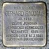 Stolperstein.Rummelsburg.Wönnichstraße 103.Gerhard Raddatz.4413.jpg