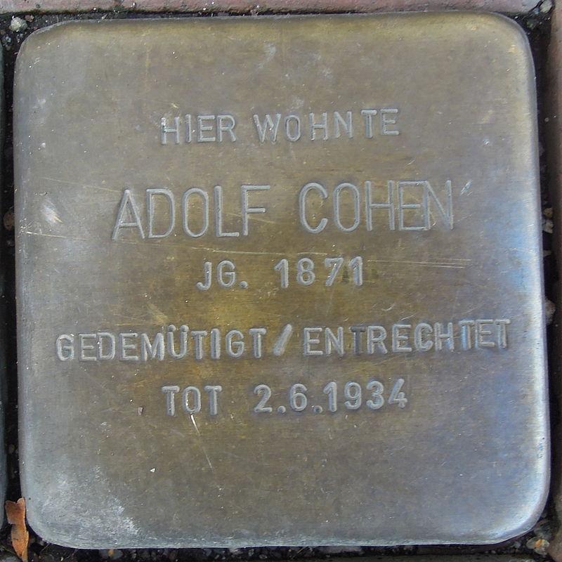 Stolperstein für Adolf Cohen
