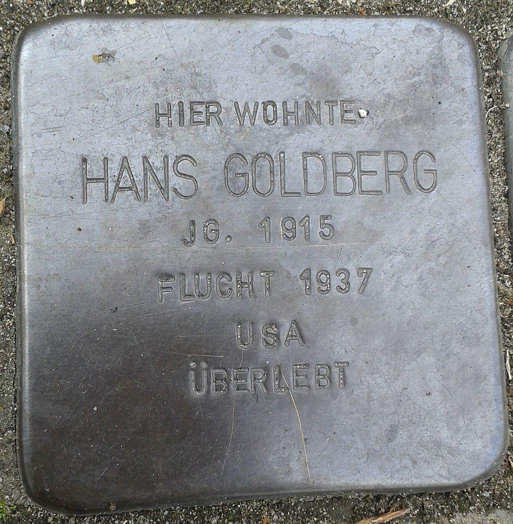 Stolperstein Datteln Carl-Gastreich-Straße 5 Hans Goldberg