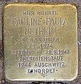 Stolperstein Fredericiastr 8 (Westend) Pauline Paula Netheim.jpg
