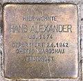 Stolperstein Joachim-Friedrich-Str 20 (Halsee) Hans Alexander.jpg
