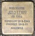 Stolperstein Julo Levin, Düsseldorf, Immermannstraße 66 (heute Konrad-Adenauer-Platz 1).jpg