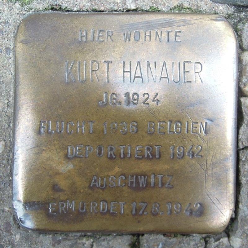 Stolperstein Lingen Gymnasialstraße 1 Kurt Hanauer.jpg