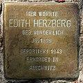 Stolperstein Motzstr 51 (Schön) Edith Herzberg.jpg