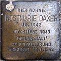 Stolperstein Salzburg, Rosemarie Daxer (Griesgasse 8).jpg